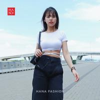 HanaFashion - Eliza Crop Top Atasan Wanita Murah - CT097