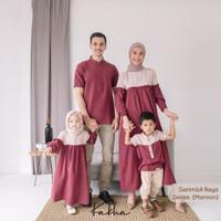 Kakha - Sarimbit Keluarga Raya (Maroon2)/ Baju Couple Keluarga Muslim