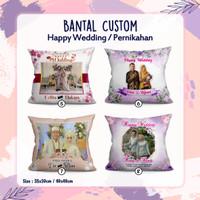Bantal Custom nama foto 30x30 cm Full dacron