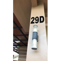 Custom Nomor Rumah akrilik hitam 2mm Laser Cutting per angka