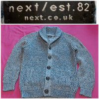 sweater wol asli next.co.uk baju hangat anak pakaian musim dingin