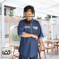 Baju Muslim Pria Gamis Kurta Kafa Pakistan Bahan Jeans Sweeding