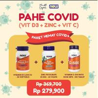 Paket Hemat Covid ( D3 2,000 IU + Zinc Picolinate 50mg + C-500 )
