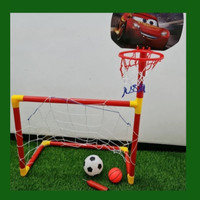 Mainan Gawang Bola Dan Ring Basket Mainan Anak Gawang Sepakbola