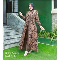 Gamis Wanita Terbaru Baju Lebaran Gamis Batik Modern Busana Muslim