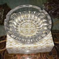 Asbak Kaca Bening Polos/Gerigi Ashtray Glass Bahan kaca