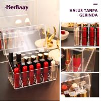 Kotak Penyimpanan Lipstik Make Up Acrylic Organizer Transparan