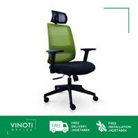 Kursi Kerja / Kantor / Gaming VINOTI Office X-Mesh HB Hijau