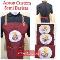 Apron Custom Barista( free bordir logo)