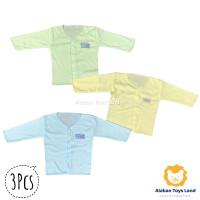 Baju Bayi / Atasan Bayi Lengan Panjang Katun Premium Motif Polos