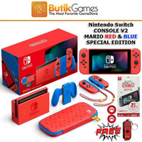 Nintendo Switch Console V2 Mario Red & Blue Edition