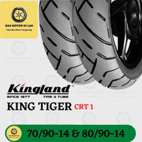 1 Set Ban Motor Kingland Tiger CRT1 Ring 14 70/90-80/90 Tubeless