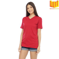 [BAMBOO COTTON] T Shirt / Kaos V Neck Polos Wanita Katun Bambu