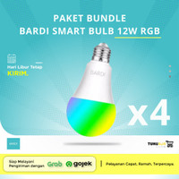 [4 PCS] BARDI Smart LED Light Bulb RGB+ WW 12W Wifi Wireless IoT Home