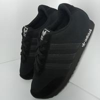 sepatu adidas anak sekolah full hitam