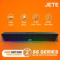 Speaker Bluetooth Sound Bar with RGB Light JETE S6 - Garansi Resmi 2th
