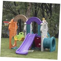 Playground Anak TK Paud SD Mainan Perosotan Climber Ayunan Terowongan