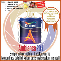 Dulux Ambiance 2290 Brilliant White 20 L/ Warna / Cat Tembok Interior