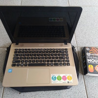 Laptop kekinian Slim Asus X441S gold Broadwell slim kekinian elegan ma