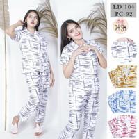 Baju Tidur Piyama Wanita/Cewek Tie Dye