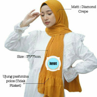 Hijab Pashmina Plisket Premium Pleated Shawl 175×75 Diamond Murah