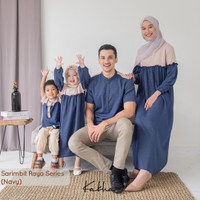 Kakha - Sarimbit Keluarga Raya (Navy-2)/ Baju Couple Keluarga Muslim