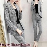 Set 2in1 Blazer Donita [Setelan Wanita 0153] SID