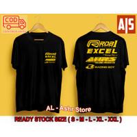 Baju Distro Pria RCB1 Racing Boy Excel AHRS Kaos Otomotif / Kaos Balap