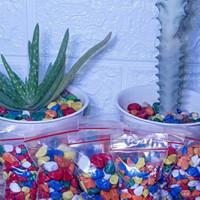batu warna warni aquarium kemasan mini