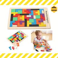 Mainan Puzzle Kayu Anak / Mainan Edukasi Balok Kayu Susun Motorik anak