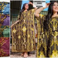 Daster Kencana Ungu Batik Sultan Daster Jumbo Baju Tidur Wanita Hamil