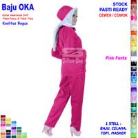 Baju OKA, Baju Perawat / Baju OK, Pria Wanita Lengan Panjang