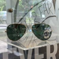 Kacamata sunglasses rayban aviator og gold original with barcode