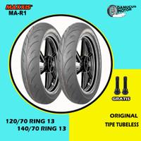 Paket ban NMAX // MAXXIS MA-R1 120/70 - 140/70 Ring 13 Tubeless