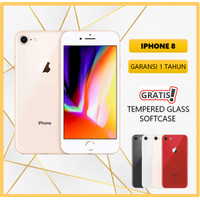 NEW APPLE IPHONE 8 64GB ORIGINAL FU GSM GARANSI 1 TAHUN