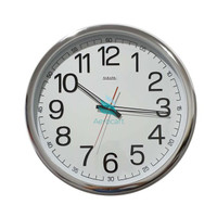 Best Seller Jam Dinding Sakana 715 Warna Putih Chrome Ukuran 50 Cm -