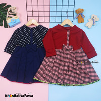 Dress Valencia 1-2 Tahun / Dres Anak Lengan Panjang Baju Perempuan