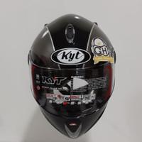 Helm Full Face Kyt Rocket X Retro Motif Black Gunmate