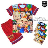 Baju Setelan Anak Kembar UPIN IPIN FULLPRINT Setelan Kaos Anak Murah