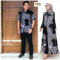 Couple Outer Cardigan Baju Pasangan terbaru Batik Wanita Akar Putih
