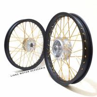 Sepaket Velg TDR Ring 17 Tromol Set Jari2 - Supra X Astera Grand