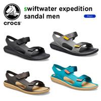Crocs / Crocs Pria / Crocs Swiftwate Expedition Sandal / Sepatu Sandal - HIJAU, M10