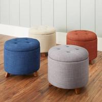stool puff kursi rias bangku bulat minimalis scandinavian murah