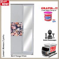 [Jabodetabek] Lemari Pakaian 2 Pintu - Type Monaco - Bunga Hitam