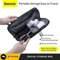 BASEUS BASIC TRAVEL KIT STORAGE BAG POWERBANK KABEL CHARGER DOMPET HP