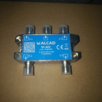 splitter TV antena UHF 4 way alcad ( spanyol + F conector )