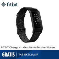 FITBIT Charge 4 Special Edition [FB417BKGY] - Granite Reflective Woven