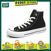 Sepatu sekolah converse all star klasik hitam tinggi & pendek - Hitam Tinggi, 39