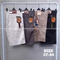 Celana Pendek BIG SIZE Pria Chino Polos Katun Melar Size Jumbo 27-44