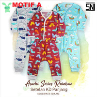 ARUCHI Newborn Setelan Panjang Piyama Baju Tidur Bayi 0-3 bulan